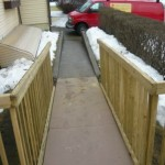 Epoxy On Wood Ramp with Concrete Ramp, Wood Railing, Ohio