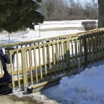 Quick Ramp Aluminum Tracks with Wood Railing
